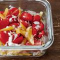 余りがちなミニトマトやパプリカ活用!和えるだけ常備菜!ミニトマトと野菜のマリネと休みの過ごし方