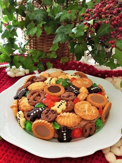 簡単かわいいクリスマスケーキ*チョコレートタルト風