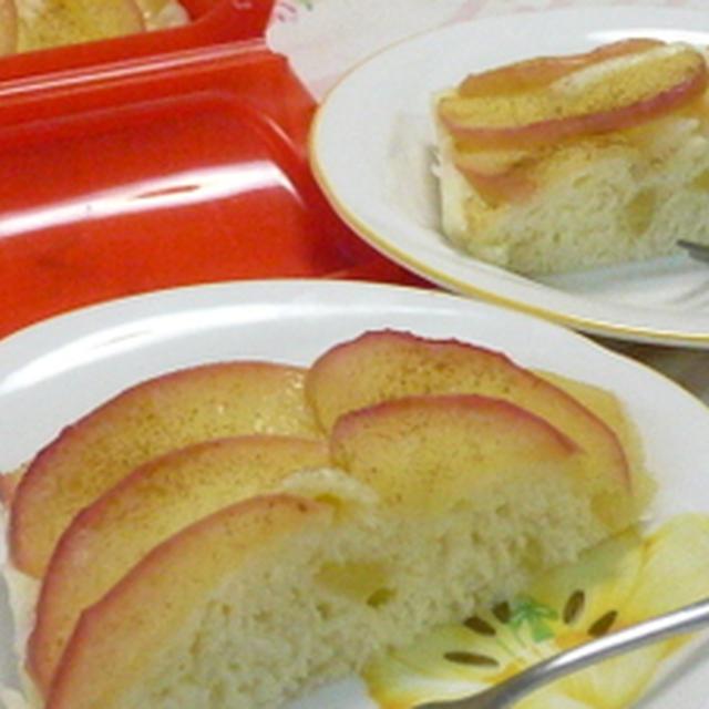 やっぱり手作りがいいね♪アップルヨーグルトケーキ~桃のお届け便