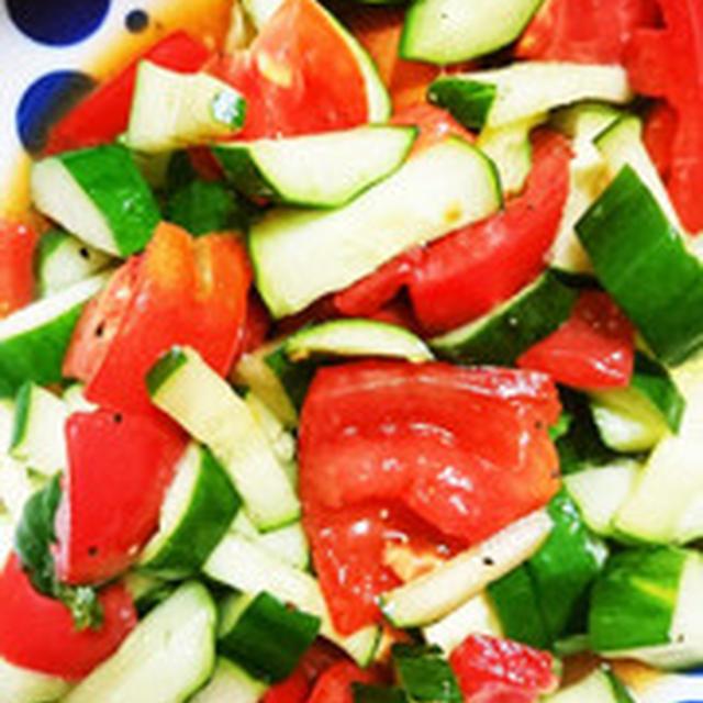 トマトときゅーりの酢の物