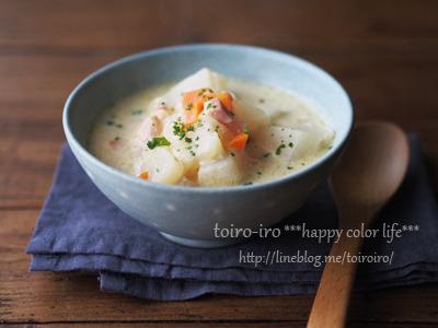 体の中からあったまろ♪トロトロかぶの豆乳スープ