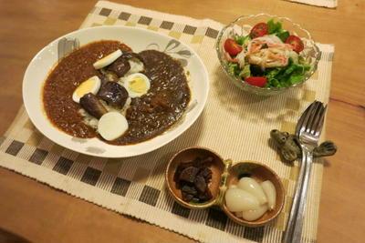 2種カレーの夜ご飯 と キンケイギク(・_・&#59;)