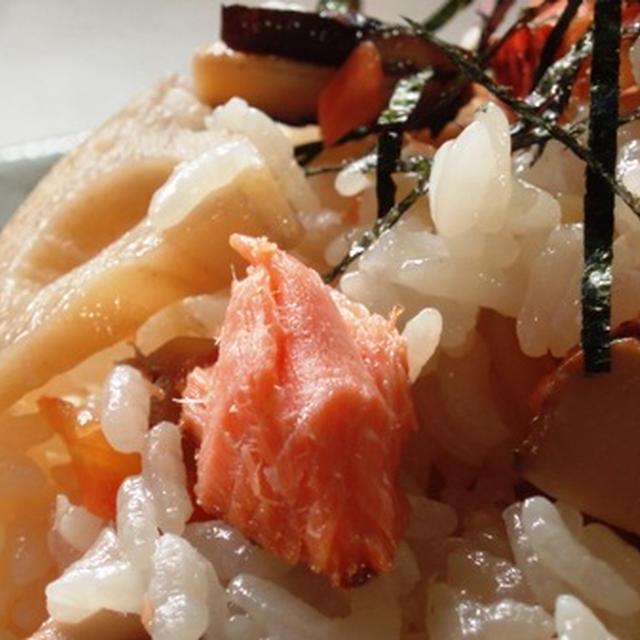 切り身の甘塩鮭で五目寿司:朝青龍は強い男