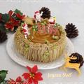 クリスマスに・・バタークリームで作る切り株ケーキ☆