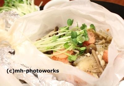 明太キノコのホイル焼き2種