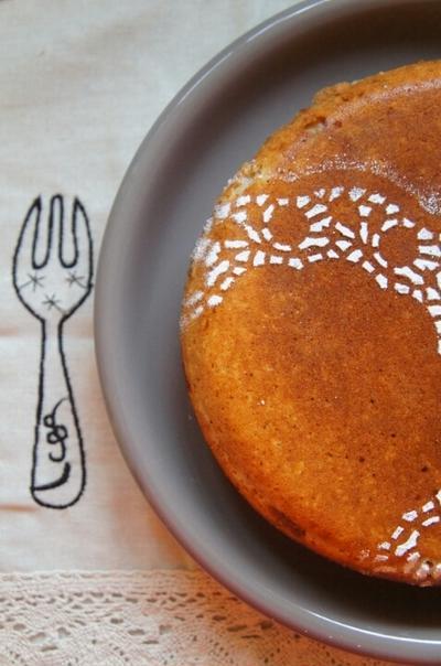 フライパンでミルクティーマロンケーキ