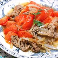 フライパンで簡単!いわき愛菜トマトでトルコケバブ風おかず。