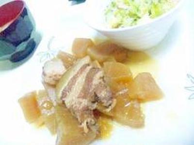 生姜たっぷりの豚の角煮