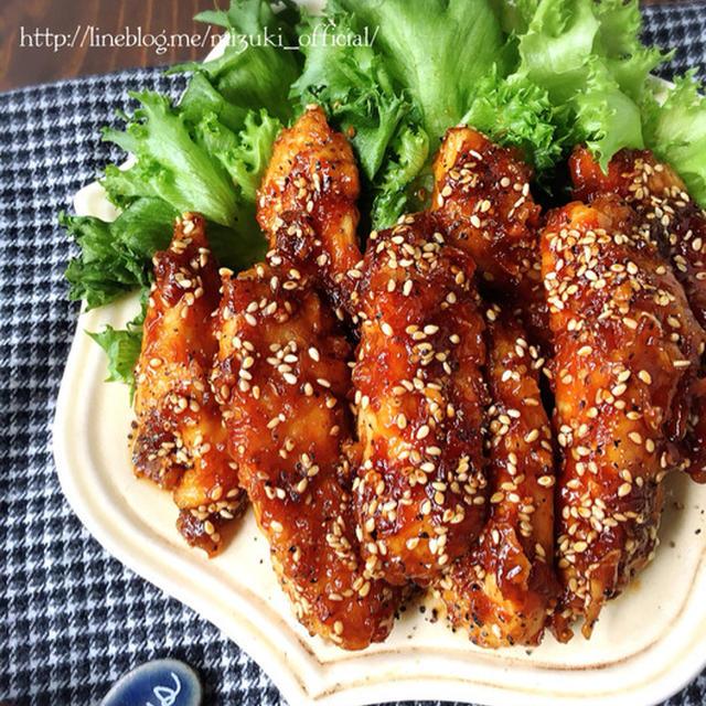 ♡揚げずに簡単名古屋風♡鶏むね肉deスティックチキン♡【#甘辛#フライパン#時短#節約】