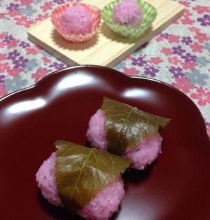 レンジで♡「桜餅 & ひとくち道明寺」春のお祝いやパーティに!