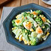チリマヨソースで♪鉄板サラダ【ブロッコリーと卵のアジアンサラダ】#万能だれ
