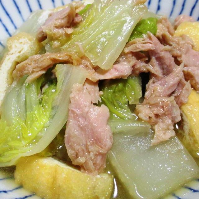 白菜とツナの煮物<ツナのうま味がしみた白菜>