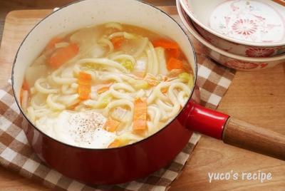 野菜たっぷり味噌煮込みうどん