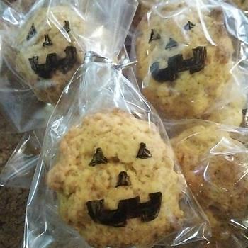 かぼちゃとシナモンのプチスコーン♪ハロウィンのプレゼントに♪