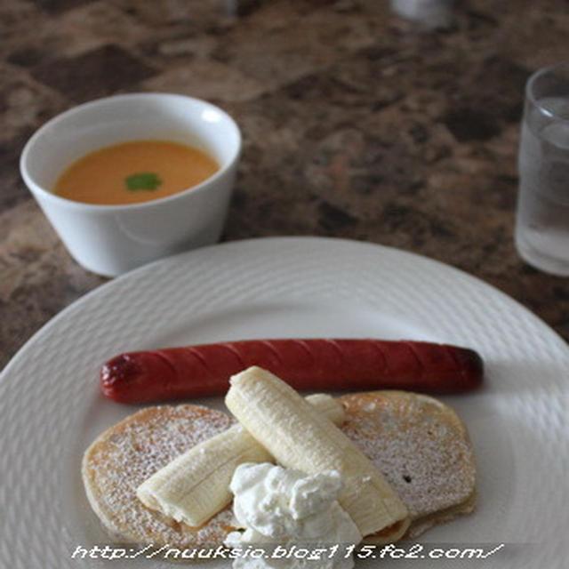酵母パンケーキ ~いちご酵母~ と夏休み中の子供ランチ