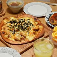 ☆ちょりママさんの全粒粉レシピ『照焼チキン&きのこの全粒粉ピザ』