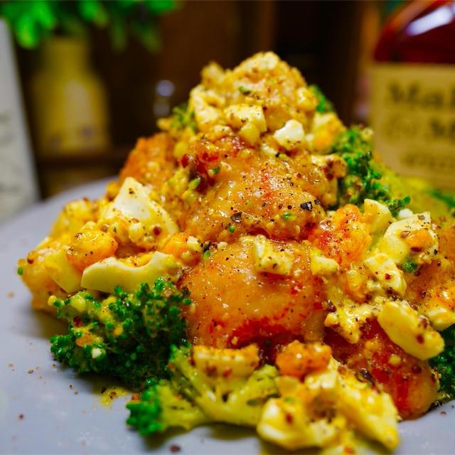 【レシピ】鶏ささみとブロッコリーのカレータルタル