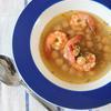 海老とひよこ豆のサフランスープ