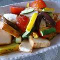 夏野菜と厚揚げのグリル(ガーリックオイル味噌ソース)