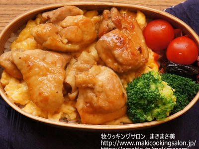 >≪鶏の照り焼き卵丼弁当≫ by まきまさ美さん