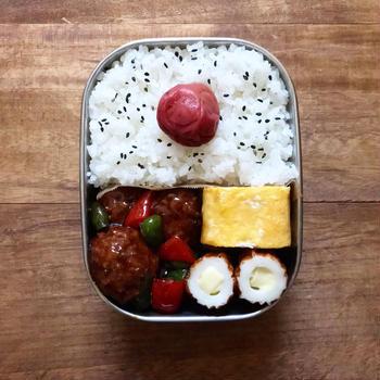 肉団子の黒酢あん 弁当ᐠ( ᐛ )ᐟ