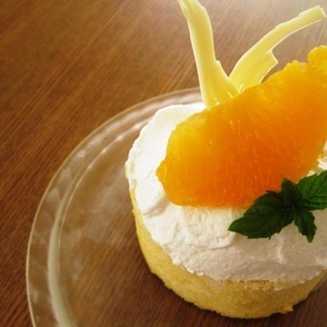夏におすすめ カルピスクリームのケーキ