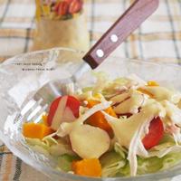 タンドリーチキンドレッシングで頂く ☆ 塩鶏のサラダ