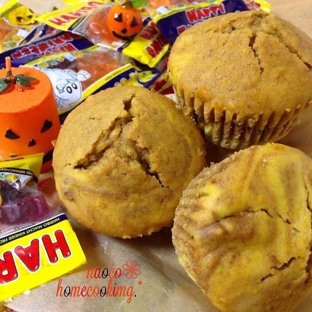 かぼちゃでしっとり♪パンプキン&ココアマフィン*to 一日遅れの大学芋レシピ☆