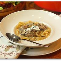 Swedish Meatball Stroganoff Soup