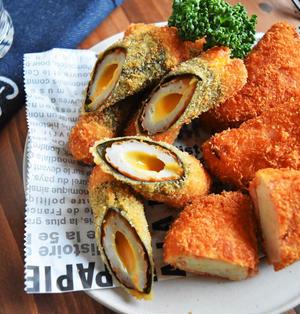 【作りおき×お弁当】チーズ入りちくわの海苔巻きフライ*連載*片づけとお菓子作り*
