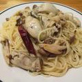 【旨魚料理】カキのガーリックオイルパスタ