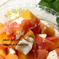 柿とクリームチーズとしょっぱいもんの和え物が止まらない。