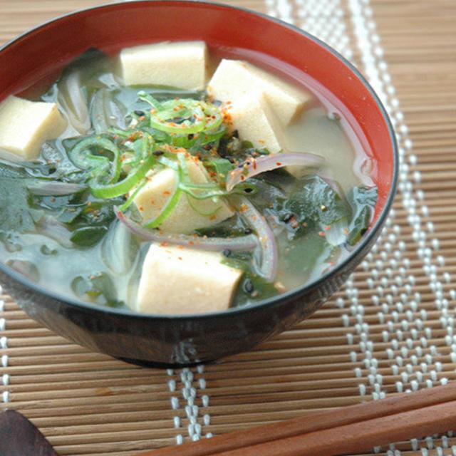 高野豆腐のお味噌汁。