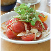 ミニミツバ&プチトマトのとろ〜りサラダ