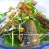 揚げさんまと新玉ねぎとみょうがのピリ辛甘酢生姜醤油