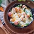 ポリポリ食感!温製スナップエンドウの焼きチーズサラダ