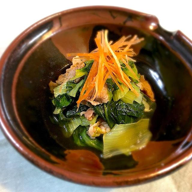 しろ菜と豚肉のあっさり炒め煮