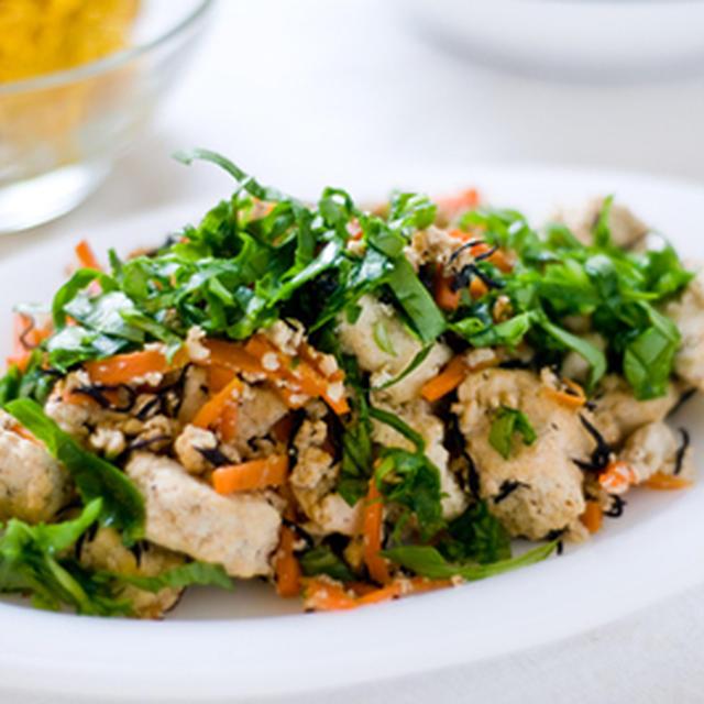 貧血予防に。豆腐とひじきのヘルシーソテー