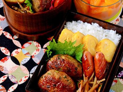 >【今日のおべんと】肉団子の具だけどバーグ状にした弁当(笑) by JUNA(神田智美)さん