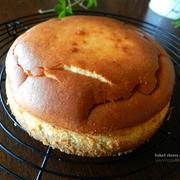 混ぜて焼くだけ、簡単濃厚だけど軽いチーズケーキと相方の昔の要らぬ一言