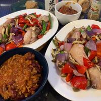 【米油×夏野菜】ビビッドカラー夏野菜と鶏もも肉焼き★コロナ禍のジム通いは