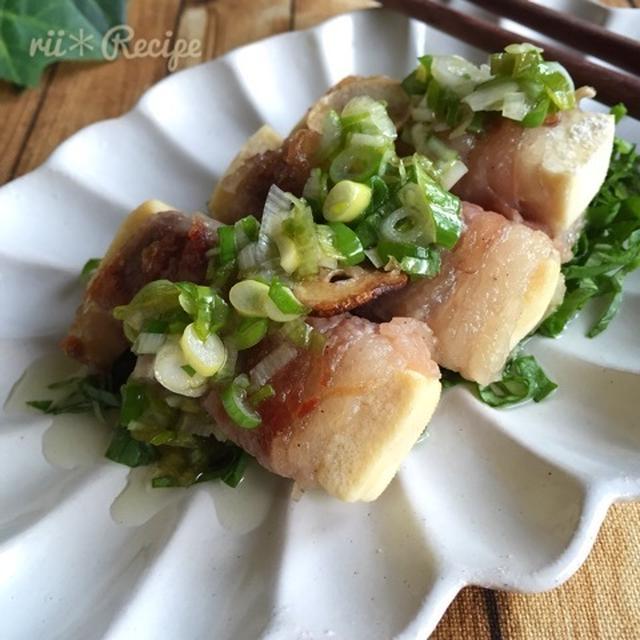 ねぎ塩ダレ*高野豆腐の牛肉巻きステーキ