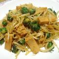 芽キャベツやら高野豆腐の回鍋肉風