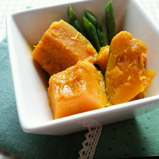かぼちゃといんげんのバター煮☆