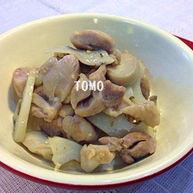 GABANタイム とあらびきガーリック de レンコンとエリンギの鶏モモ炒め