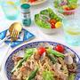 あさりと豚肉春野菜の具だくさんハーブパスタ♪スパイスブログ連載