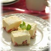 バニラレアチーズケーキ。