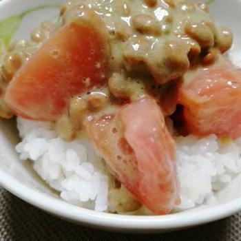 トマトアボカド納豆(レシピ)