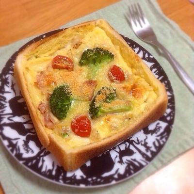 お野菜たっぷり♡食パンキッシュ