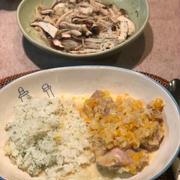 チキンのクリーム煮&バターライス
